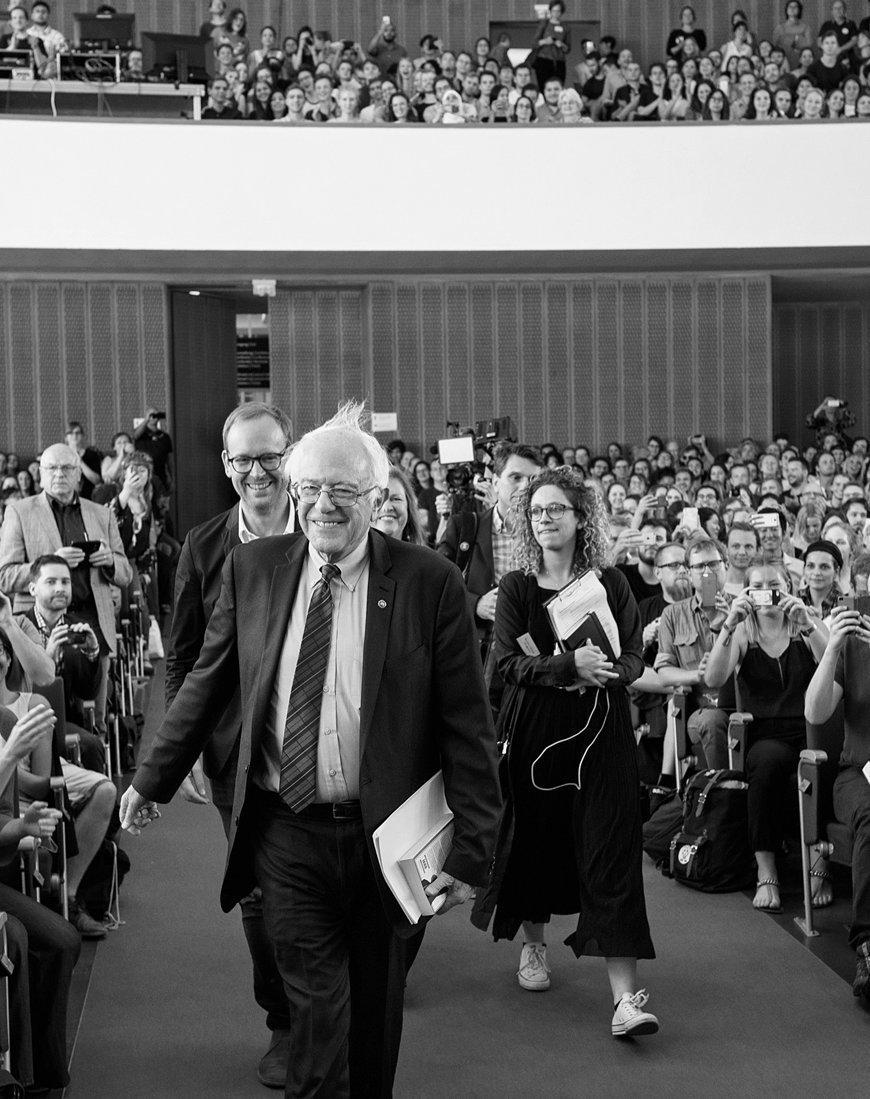 Bernie Sanders und Christoph Ahmend bei einer ZEIT Veranstaltung