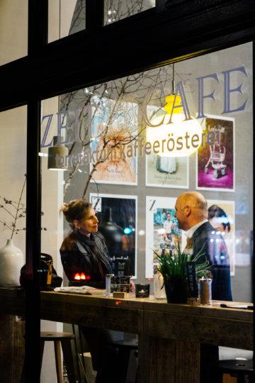 Das ZEITCafé direkt unterhalb des Redaktionsgebäudes der ZEIT in Hamburg