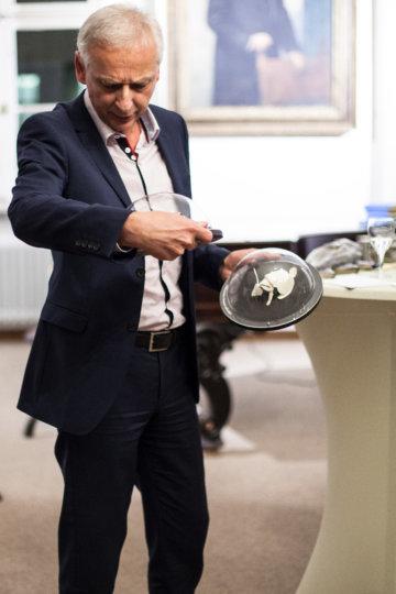Prof. Dr. Helmuth Trischler beim Unter-Freunden-Abend in München