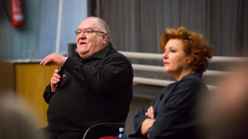 Thomas Fischer und Sabine Rückert beim Unter-Freunden-Abend