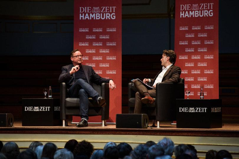 Matthias Brandtim Gespräch mit ZEIT-Chefredakteur Giovanni di Lorenzo