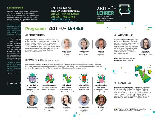 Flyer ZEIT für Lehrer